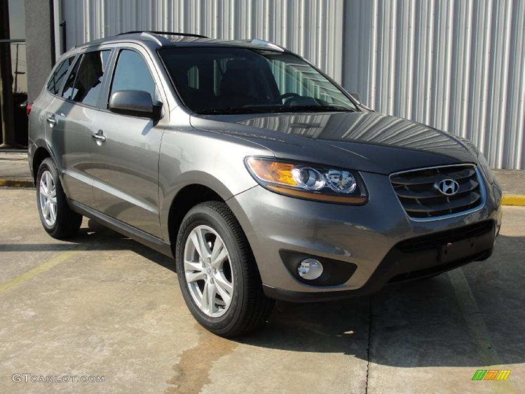 2011 Mineral Gray Hyundai Santa Fe Limited 40353288
