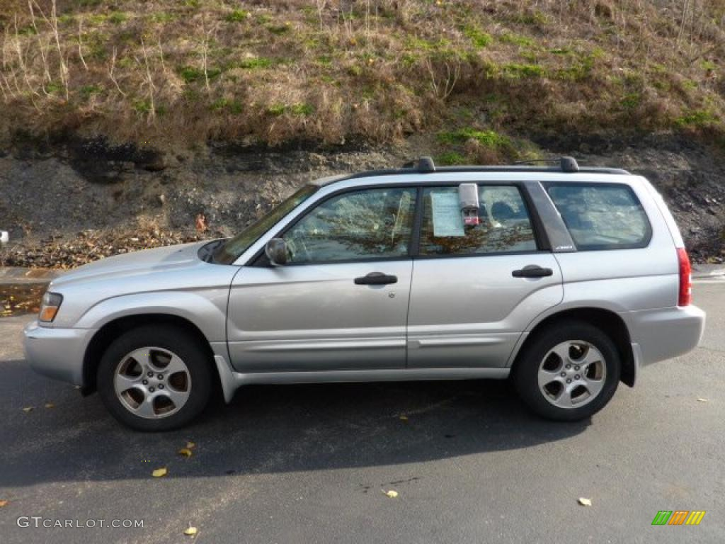 2003 forester 2 5 xs platinum silver metallic gray photo 1