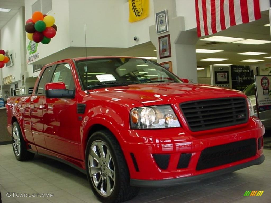 2007 f150 saleen s331 supercharged supercab bright red saleen dark charcoal photo 1