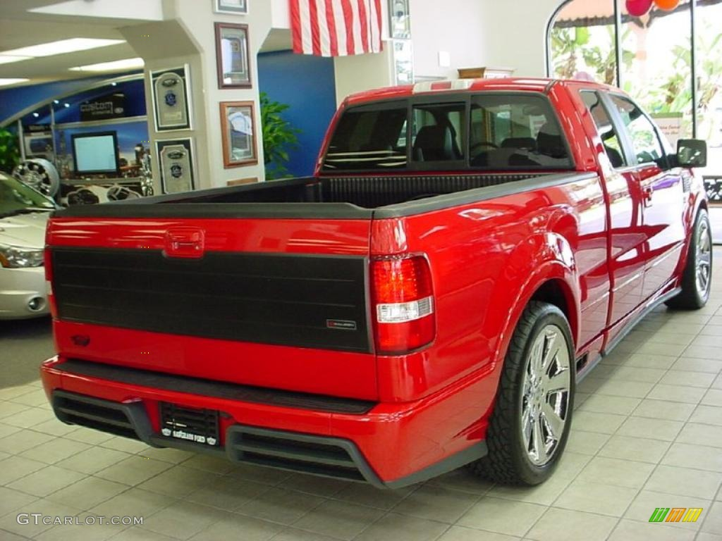 2007 f150 saleen s331 supercharged supercab bright red saleen dark charcoal photo 5