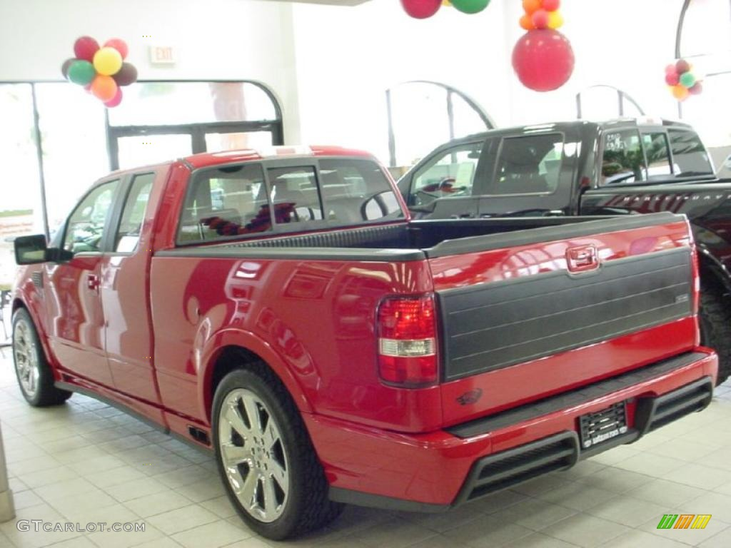 Bright Red 2007 Ford F150 Saleen S331 Supercharged SuperCab Exterior