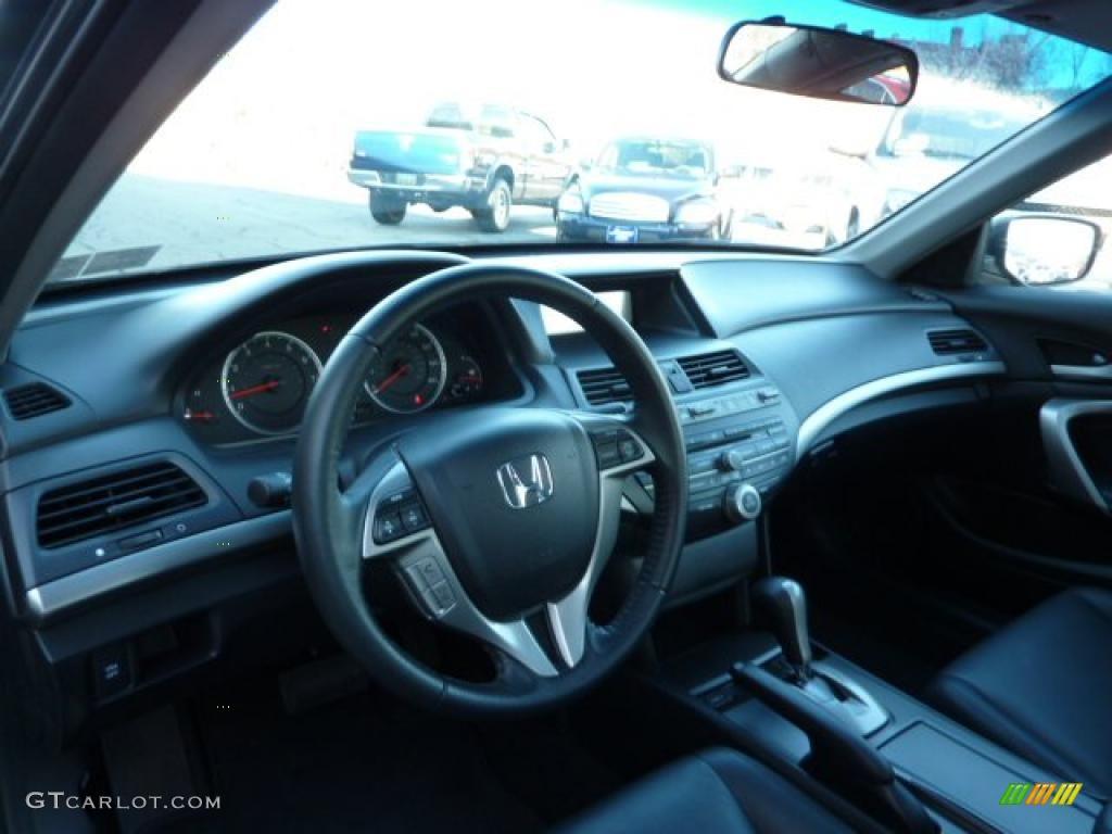 Black Interior 2010 Honda Accord Ex L V6 Coupe Photo