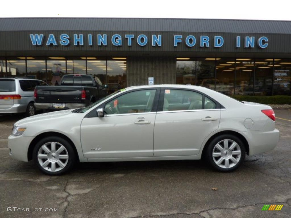 2008 MKZ AWD Sedan - Light Sage Metallic / Sand photo #1