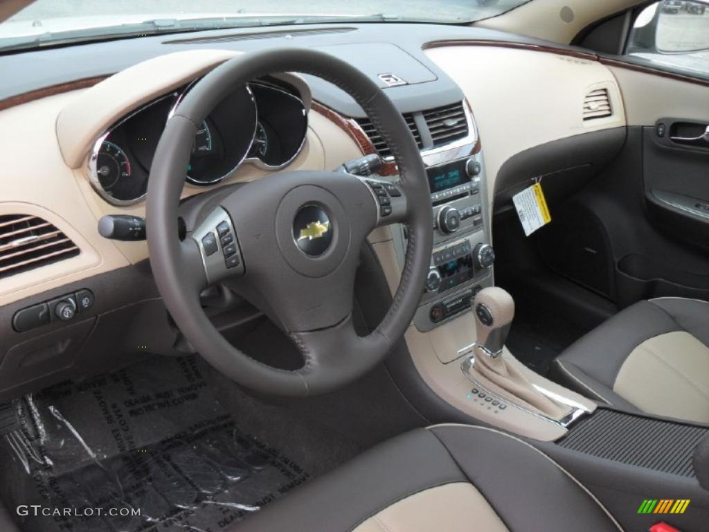 Lovely Cocoa/Cashmere Interior 2011 Chevrolet Malibu LTZ Photo #40429204