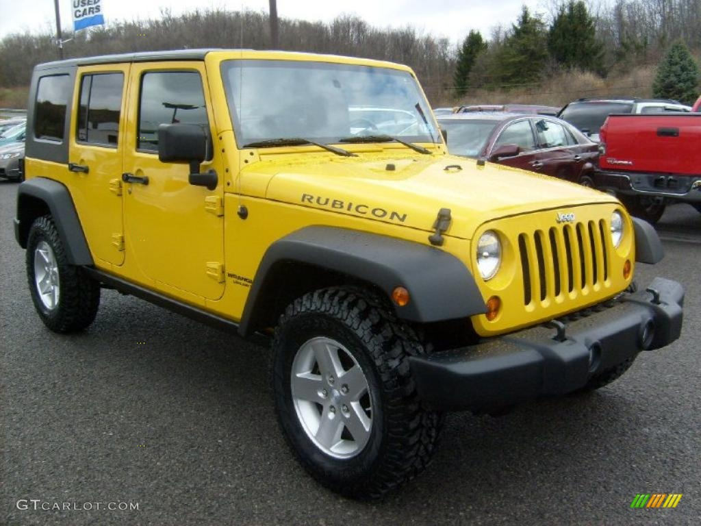2008 Detonator Yellow Jeep Wrangler Unlimited Rubicon 4x4