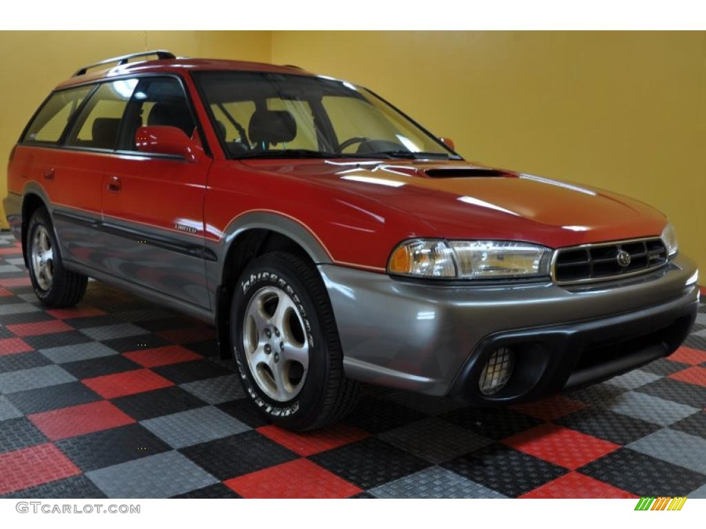 1998 rio red subaru legacy outback limited wagon 40410558. Black Bedroom Furniture Sets. Home Design Ideas