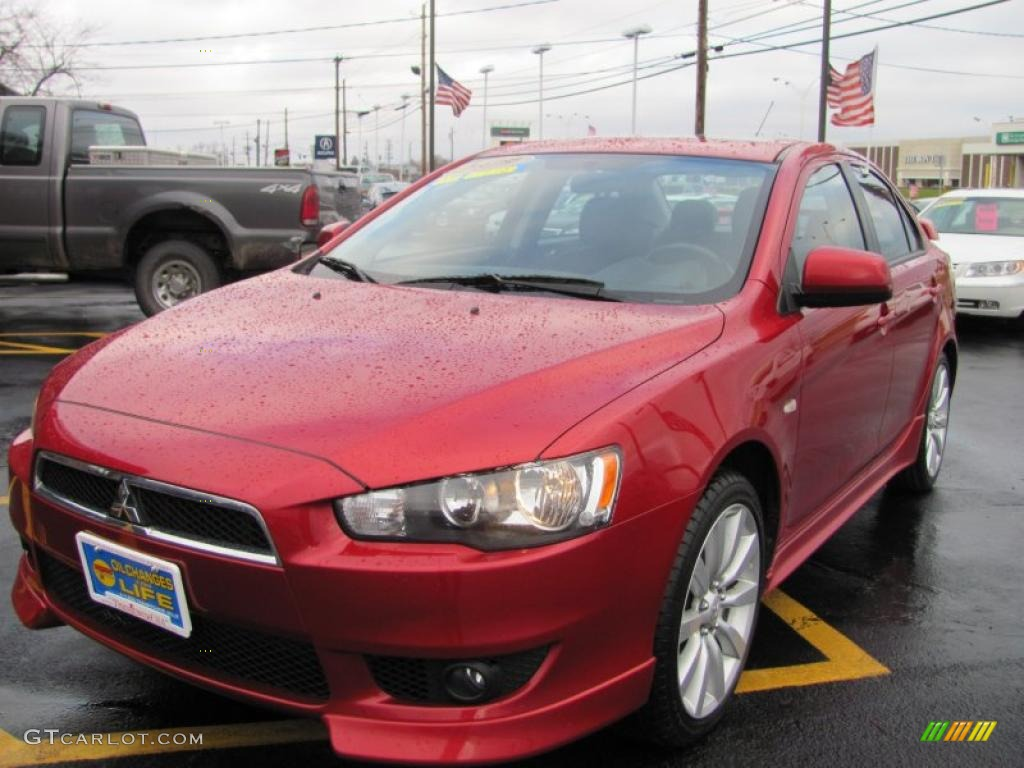 2009 rally red pearl mitsubishi lancer gts 40410580 car color galleries. Black Bedroom Furniture Sets. Home Design Ideas
