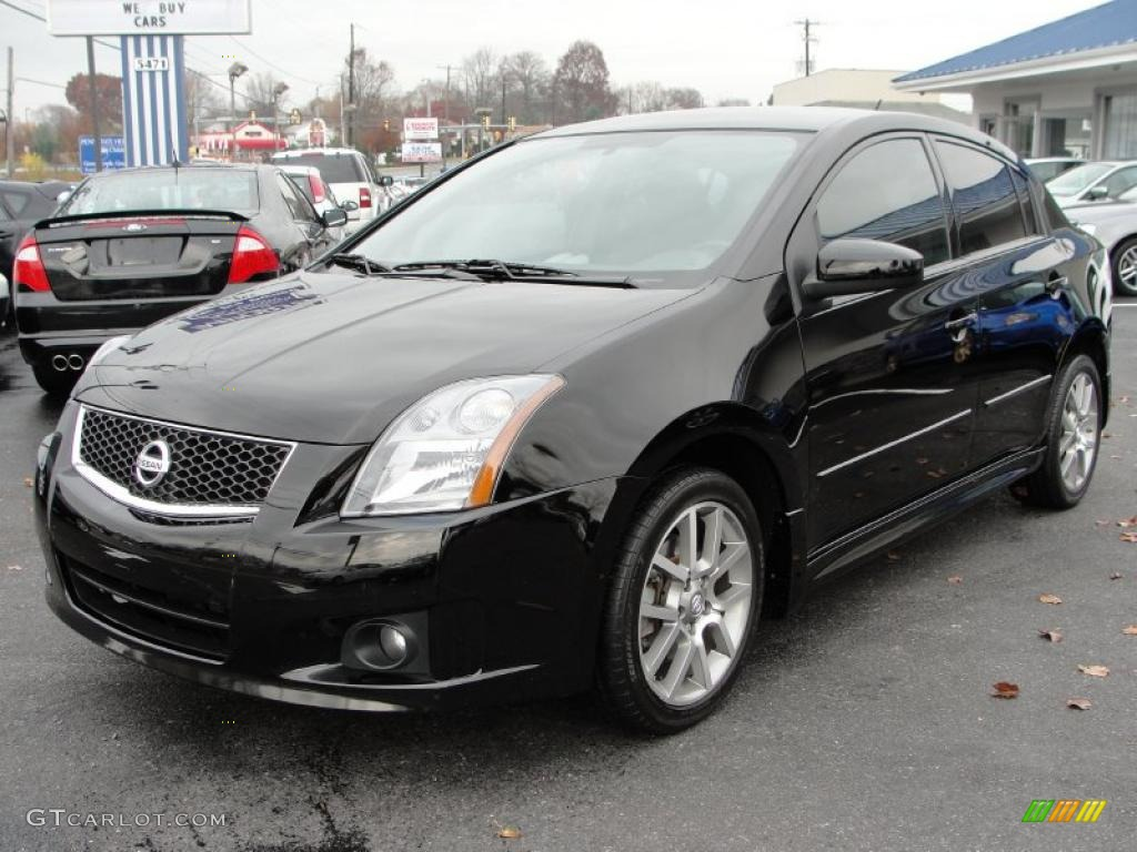 super black 2008 nissan sentra se r exterior photo. Black Bedroom Furniture Sets. Home Design Ideas