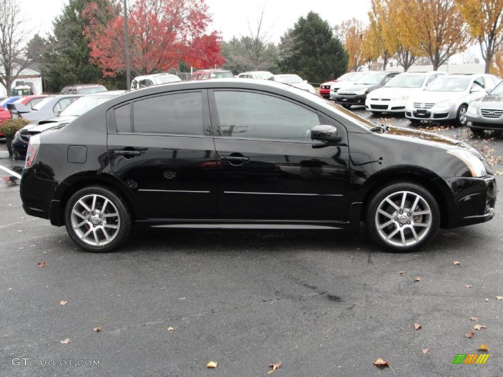 Super Black 2008 Nissan Sentra Se R Exterior Photo
