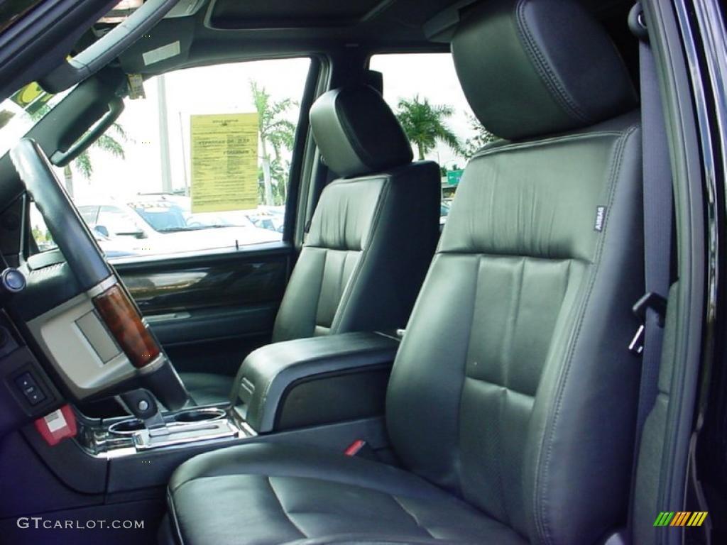 Charcoal Black Interior 2008 Lincoln Navigator Luxury Photo 40473191