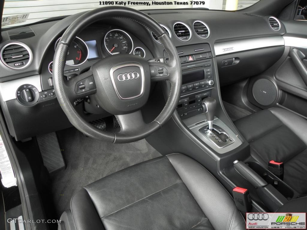 Ebony Interior 2007 Audi A4 20t Quattro Cabriolet Photo 40480726