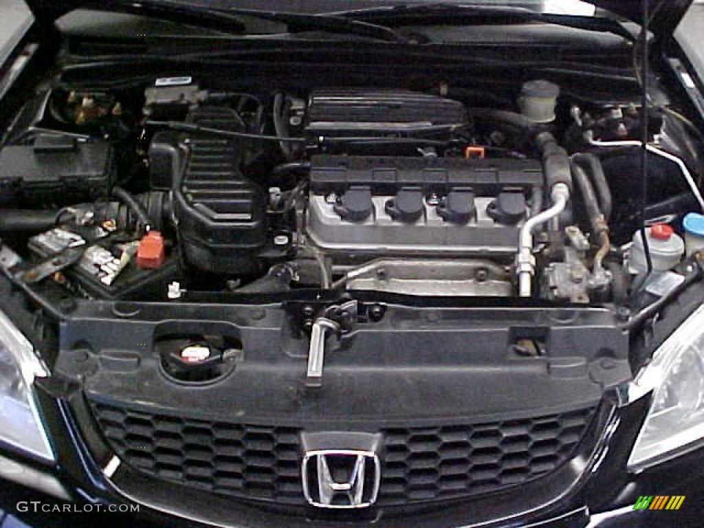 2004 honda civic lx coupe 1 7l sohc 16v vtec 4 cylinder for Honda civic vtec motor