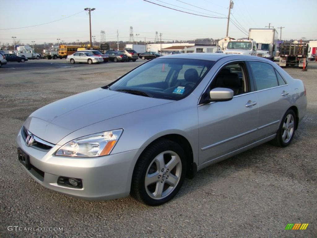 Alabaster Silver Metallic 2006 Honda Accord Ex L V6 Sedan
