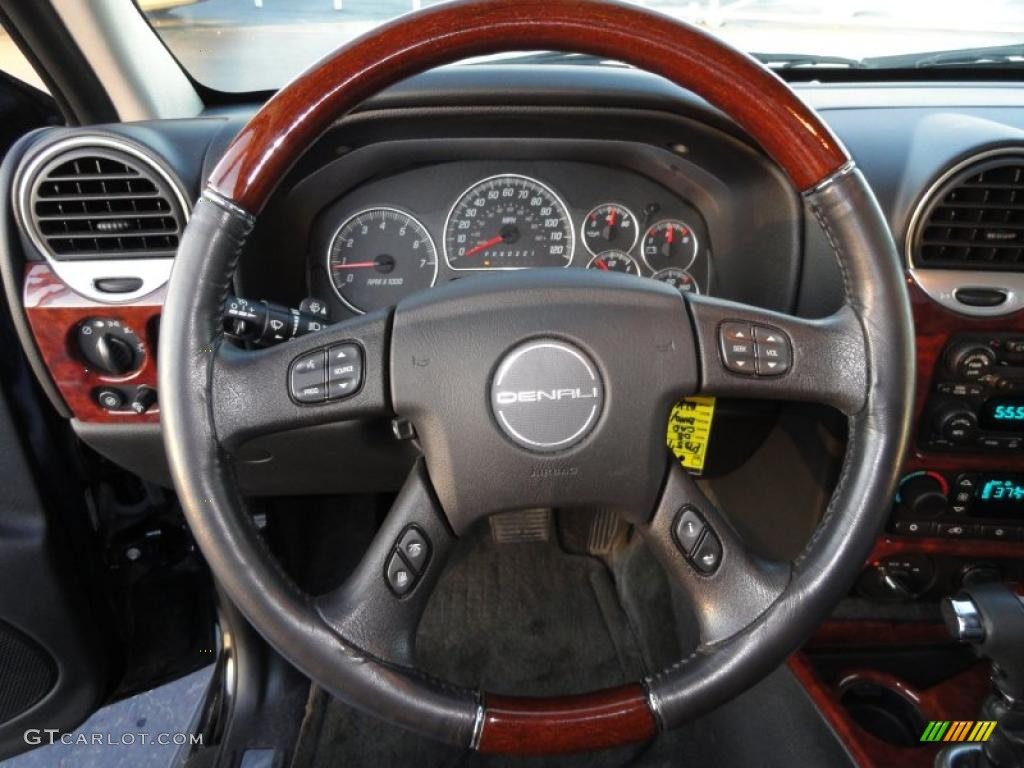 2008 GMC Envoy Denali 4x4 Ebony Steering Wheel Photo ...