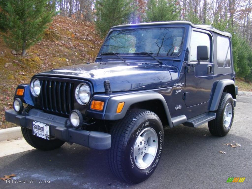 Patriot Blue Pearl 2001 Jeep Wrangler Sport 4x4 Exterior
