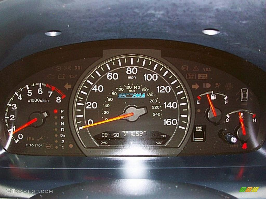 2007 Honda Accord Hybrid Sedan Gauges Photo 40500666