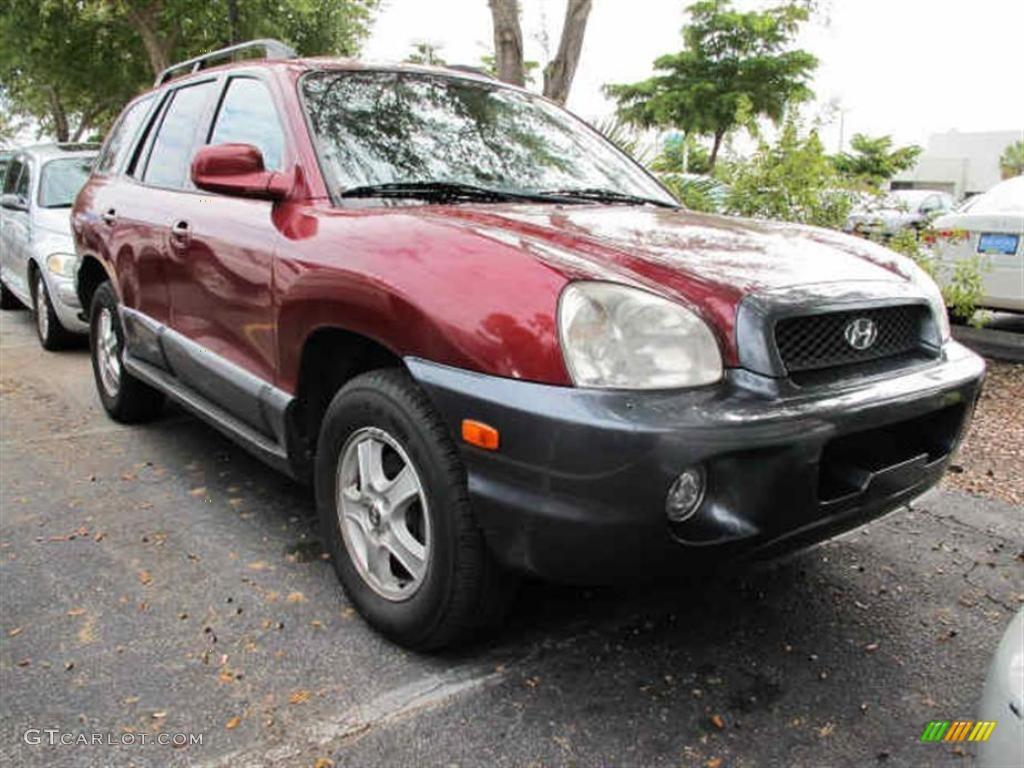 Merlot Red Hyundai Santa Fe