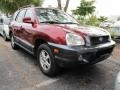 2004 Merlot Red Hyundai Santa Fe GLS  photo #1