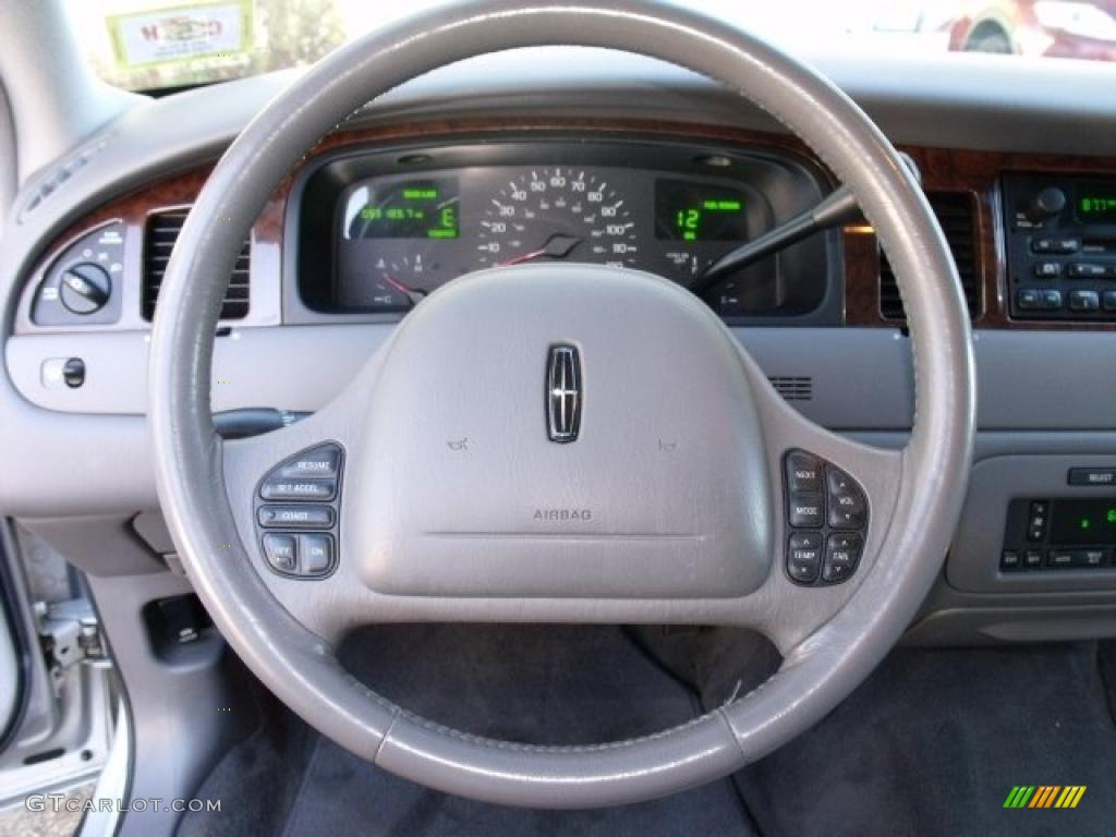 1999 lincoln town car signature light graphite steering wheel photo 40512666. Black Bedroom Furniture Sets. Home Design Ideas