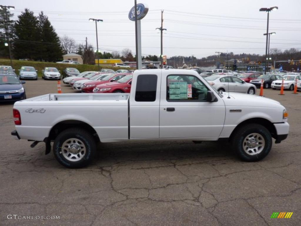 oxford white 2011 ford ranger xlt supercab 4x4 exterior. Black Bedroom Furniture Sets. Home Design Ideas