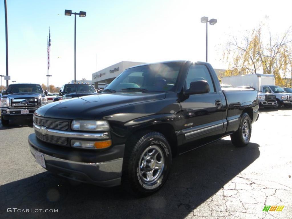 Onyx Black 1999 Chevrolet Silverado 1500 LS Regular Cab Exterior Photo