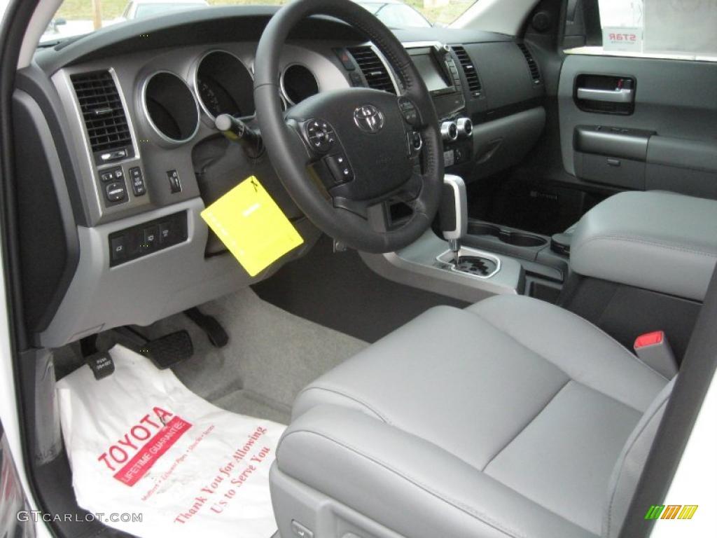 Graphite Gray Interior 2011 Toyota Sequoia Limited 4wd Photo 40532041