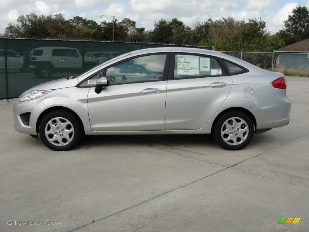 Ingot Silver Metallic 2011 Ford Fiesta S Sedan Exterior Photo ...
