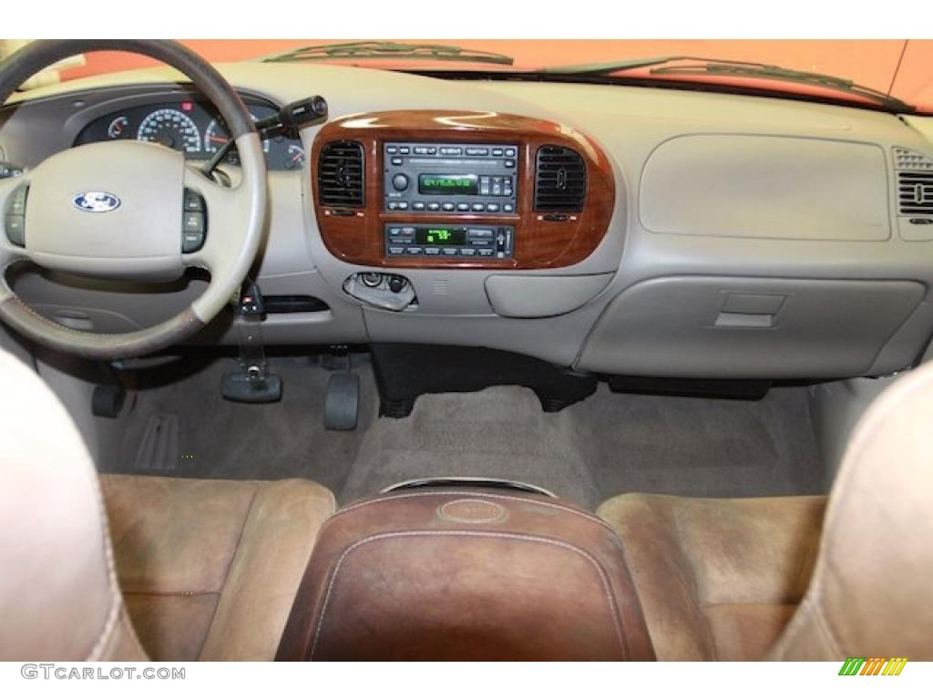 Castano Brown Leather Interior 2003 Ford F150 King Ranch