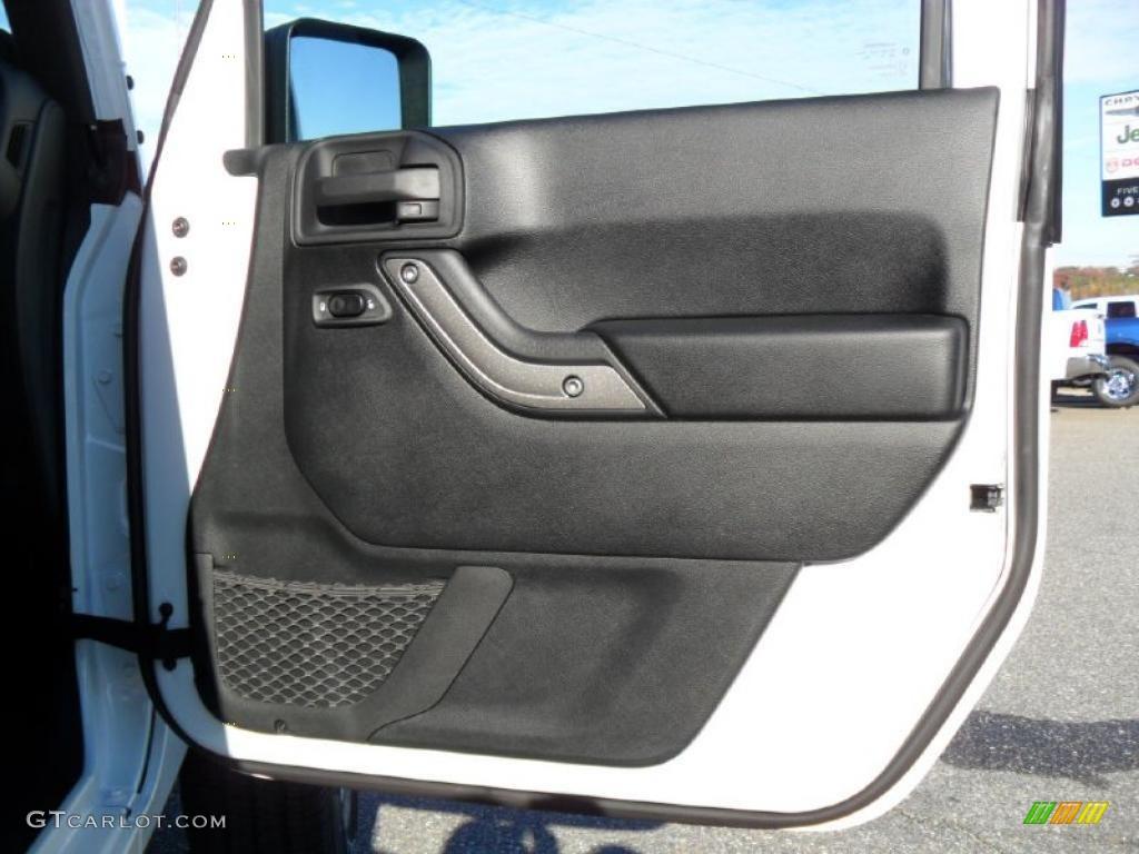 2011 Jeep Wrangler Sport S 4x4 Black Door Panel Photo