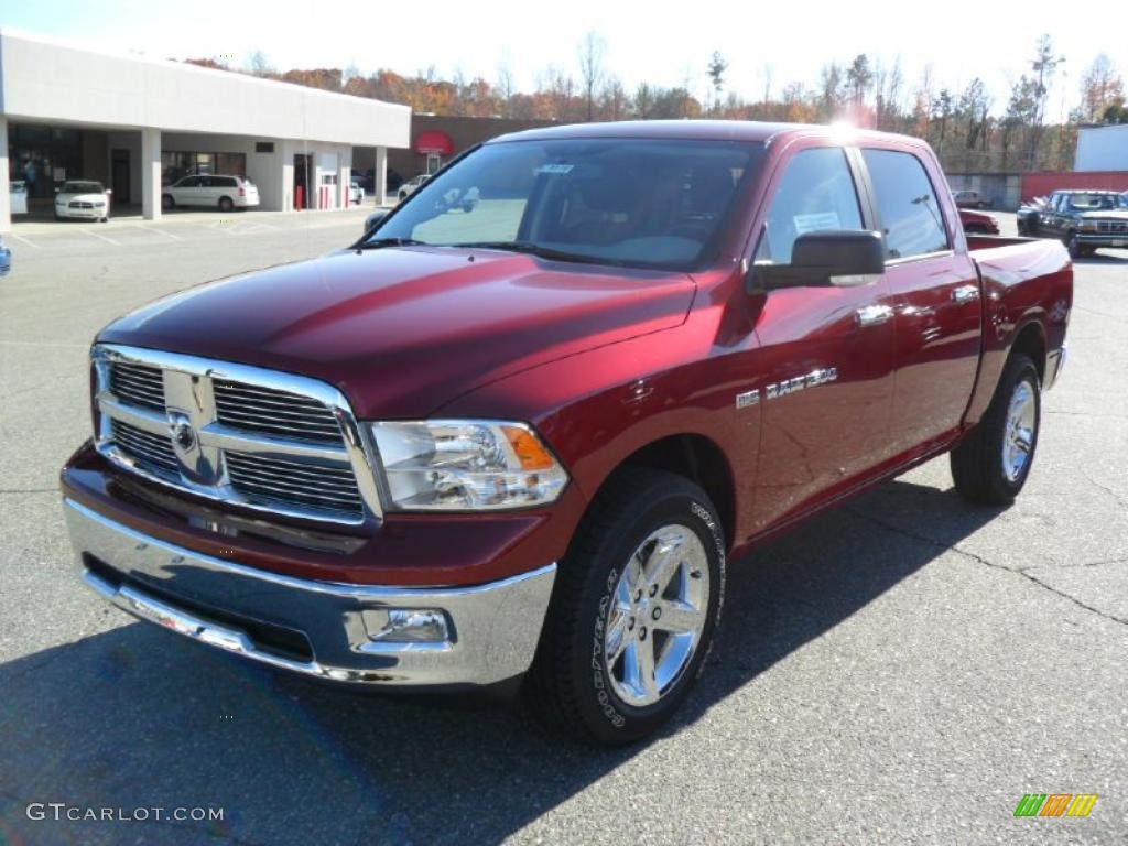 2011 Ram 1500 Big Horn Crew Cab - Deep Cherry Red Crystal Pearl / Dark Slate Gray/Medium Graystone photo #1