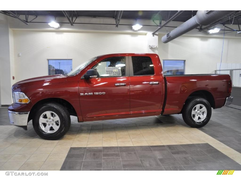 2011 Ram 1500 SLT Quad Cab - Deep Cherry Red Crystal Pearl / Dark Slate Gray/Medium Graystone photo #1