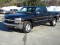 2000 Onyx Black Chevrolet Silverado 1500 Z71 Extended Cab 4x4  photo #2