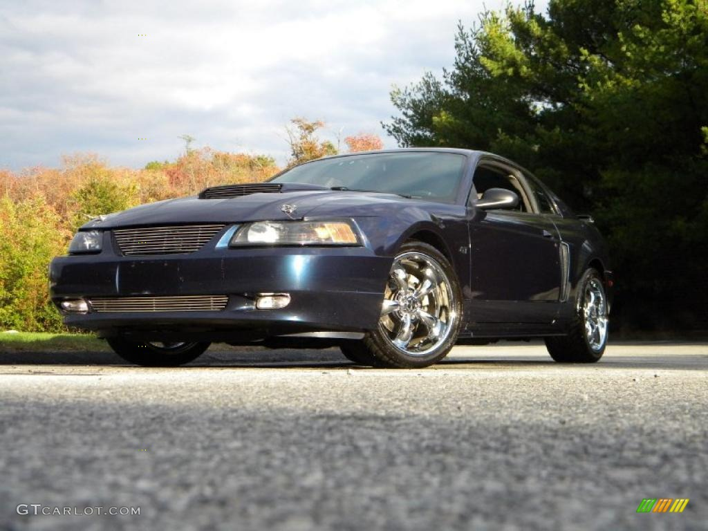 2003 Mustang GT Coupe - True Blue Metallic / Medium Graphite photo #1
