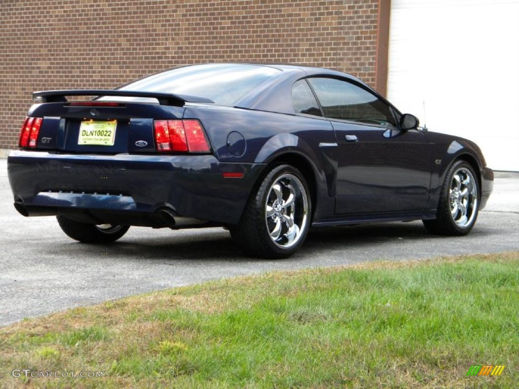 true blue metallic 2003 ford mustang gt coupe exterior photo 40576357. Black Bedroom Furniture Sets. Home Design Ideas