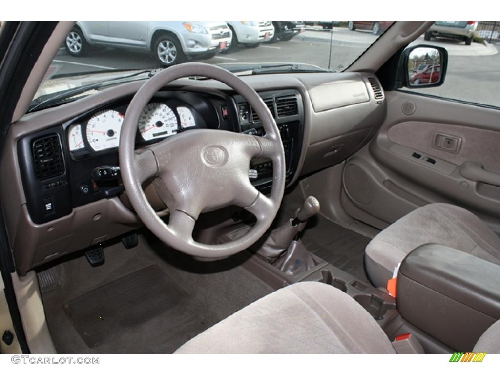 Oak Beige Interior 2001 Toyota Tacoma V6 TRD Xtracab 4x4 Photo ...