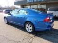 2011 Blue Flame Metallic Ford Fusion SE V6  photo #2
