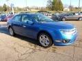 2011 Blue Flame Metallic Ford Fusion SE V6  photo #6