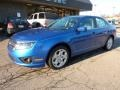 2011 Blue Flame Metallic Ford Fusion SE V6  photo #8