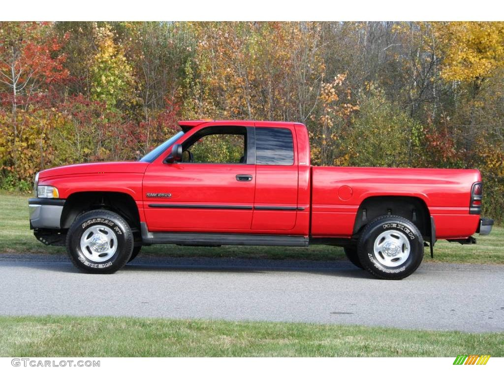flame red 2000 dodge ram 2500 slt extended cab 4x4. Black Bedroom Furniture Sets. Home Design Ideas