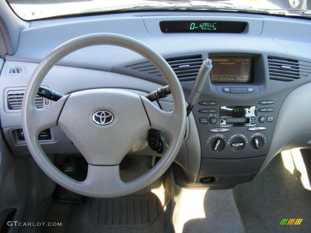 2002 Toyota Prius Hybrid Gray Dashboard Photo #40593573
