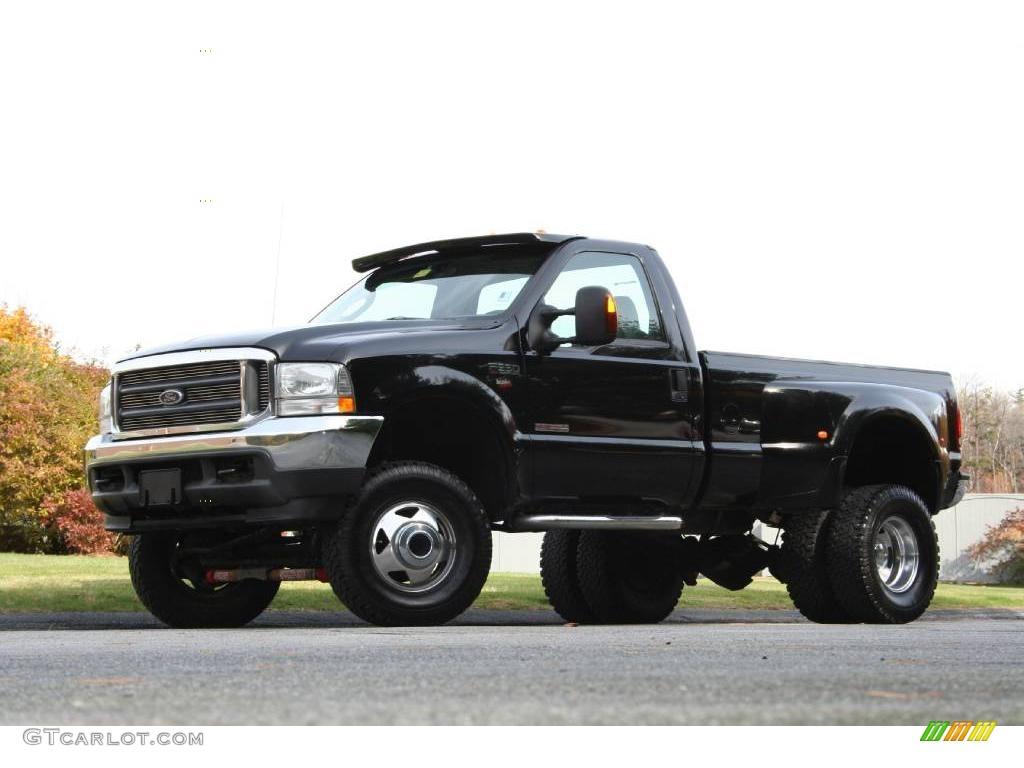 2004 black ford f350 super duty xlt regular cab 4x4 dually 40571537 car color. Black Bedroom Furniture Sets. Home Design Ideas