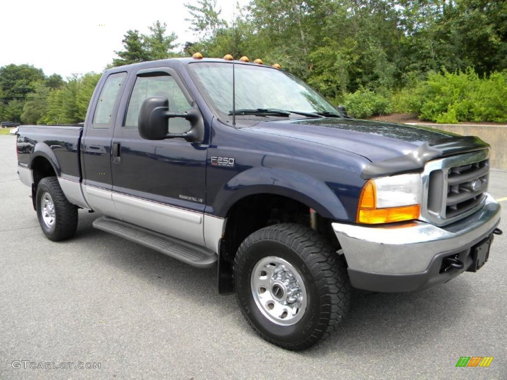 true blue metallic 2001 ford f250 super duty xlt supercab. Black Bedroom Furniture Sets. Home Design Ideas