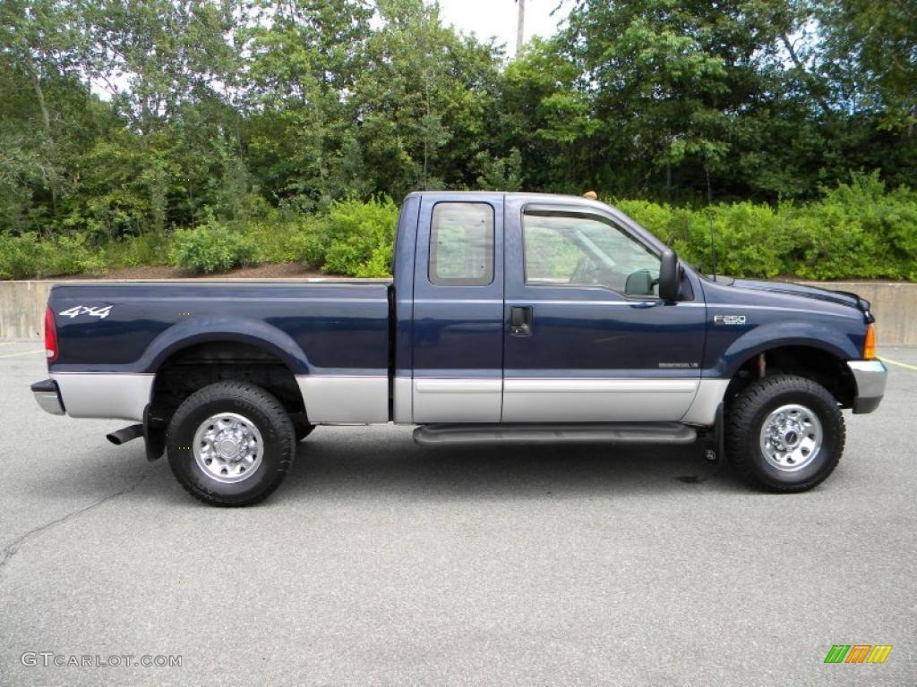 true blue metallic 2001 ford f250 super duty xlt supercab 4x4 exterior photo 40605085. Black Bedroom Furniture Sets. Home Design Ideas