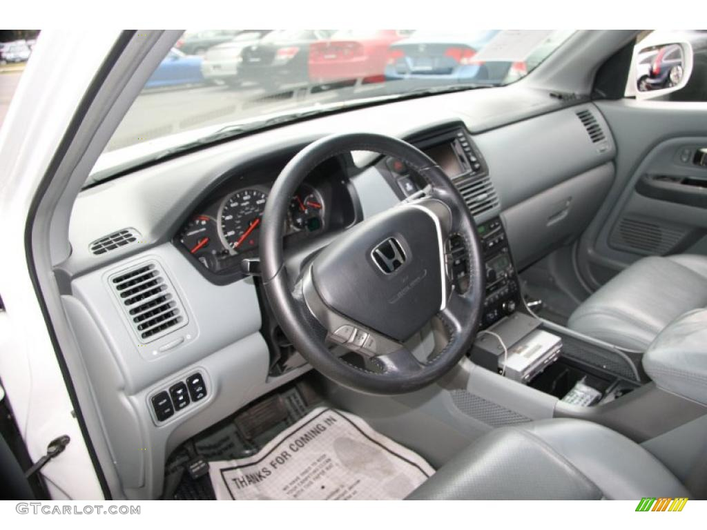 Gray Interior 2005 Honda Pilot Ex L 4wd Photo 40611129