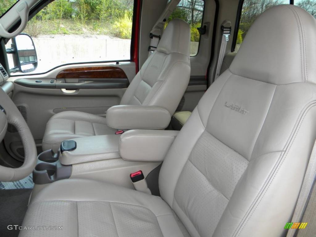 Medium parchment interior 2001 ford f250 super duty lariat supercab 4x4 photo 40611893