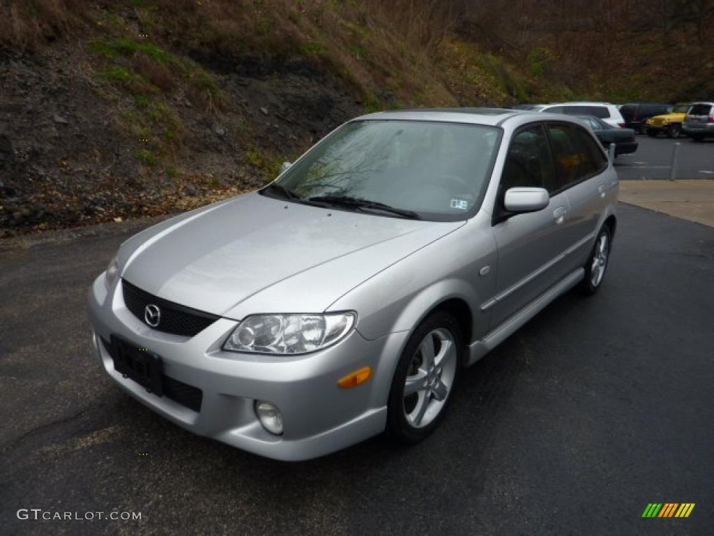 sunlight silver metallic 2003 mazda protege 5 wagon. Black Bedroom Furniture Sets. Home Design Ideas