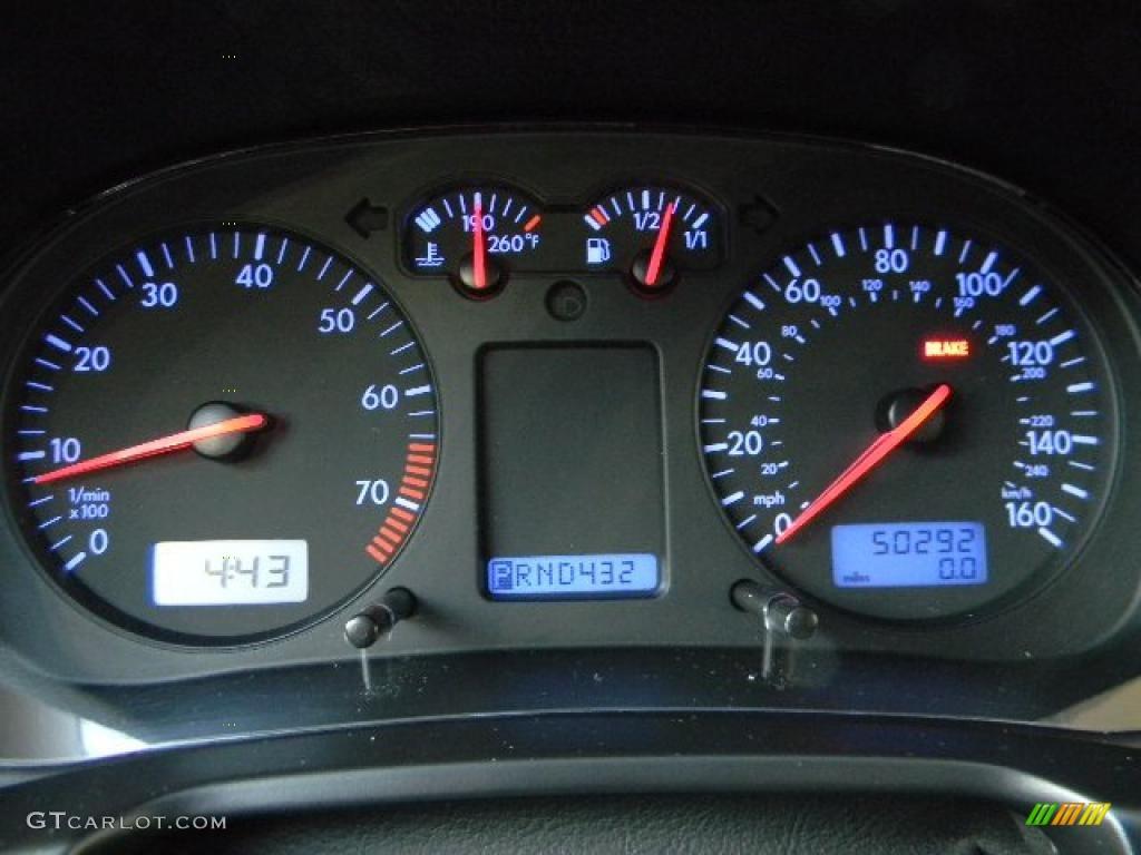 2003 volkswagen jetta wolfsburg edition 1 8t sedan gauges photo 40618622