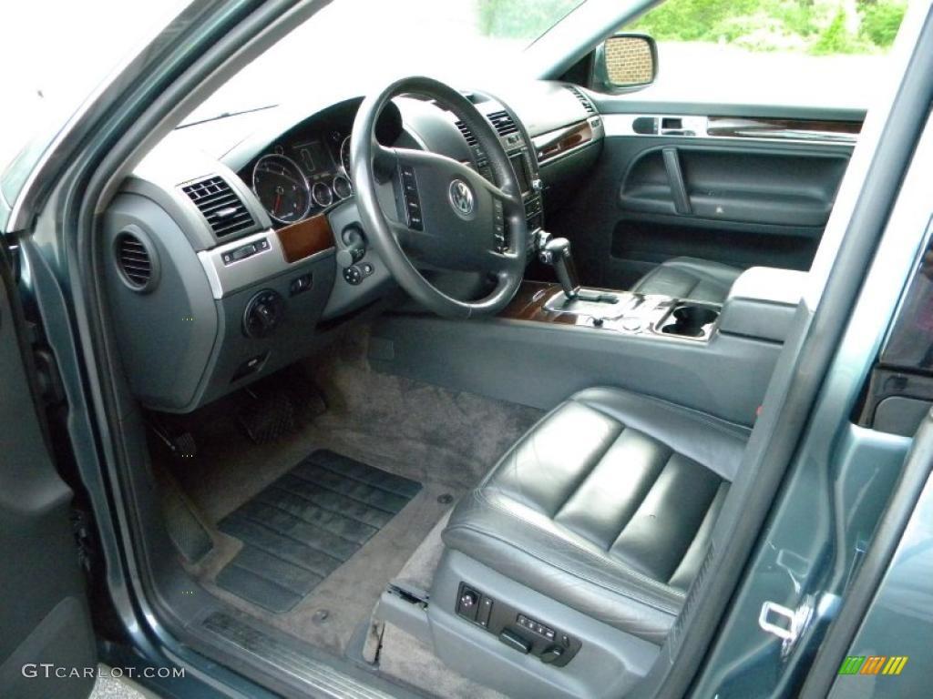 Anthracite Interior 2004 Volkswagen Touareg V10 Tdi Photo 40627614