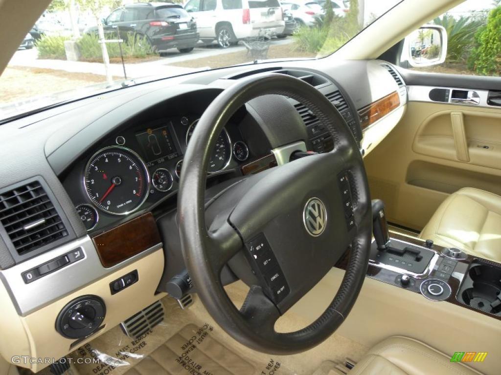 Pure Beige Interior 2004 Volkswagen Touareg V8 Photo 40627894
