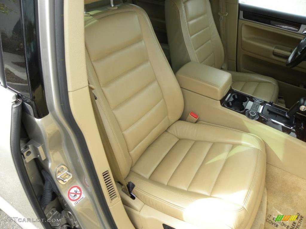 Pure Beige Interior 2004 Volkswagen Touareg V8 Photo 40627982